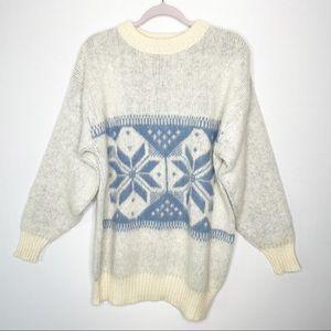 Vintage Eva Fair Isle New Pure Wool Sweater